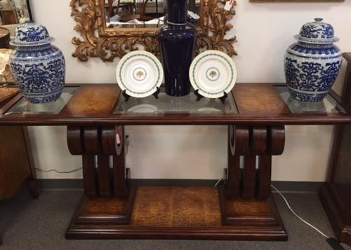 "JOHN RICHARDS CONSOLE TABLE 76""W X 20""D X 35""H CONSIGNED AT  $1995 REDUCED TO  SELL $995"