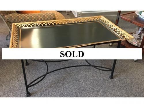 "GREEN TOLE COFFEE TABLE 24""D X 41""W X 21""H $495"