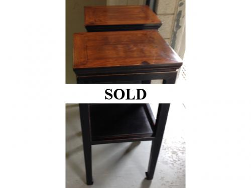 "PAIR OF ASIAN PLANT STANDS 17""W X 15""D X 33.5""H $450"