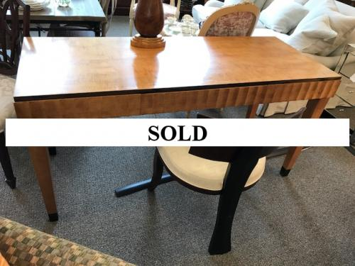 """BIEDERMEIER STYLE WRITING TABLE 60""""W X 24""""D X 29""""H CONSIGNED AT $895 REDUCED TO SELL $625"""
