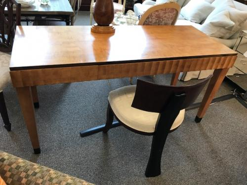 "BIEDERMEIER STYLE WRITING TABLE 60""W X 24""D X 29""H CONSIGNED AT $895 REDUCED TO SELL $625"