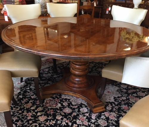 "HENREDON 64"" ROUND PEDESTAL TABLE $1895"