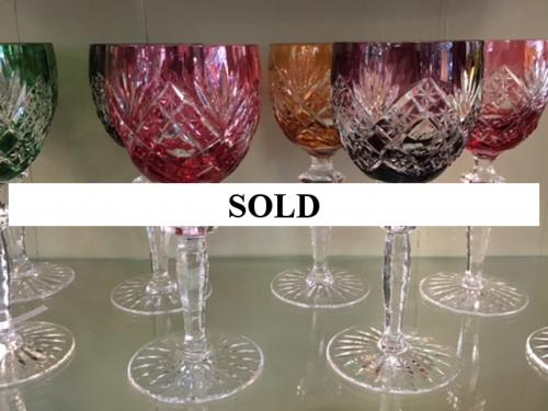 SET OF 8 BOHEMIAN WINE GLASSES $295