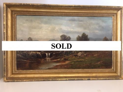 OIL PAINTING BY ARTIST C.W. KNAPP LANDSCAPE $1395