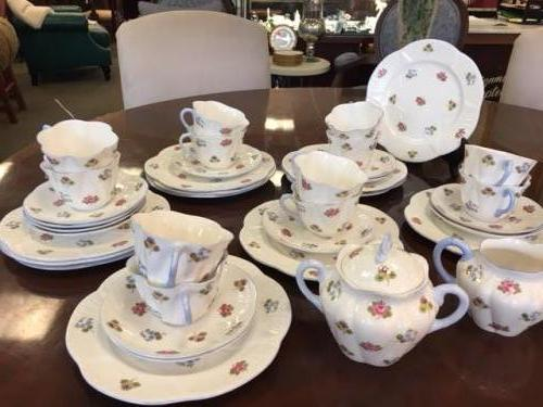 DESSERT SET BY SHELLEY  SERVICE FOR 12  $195