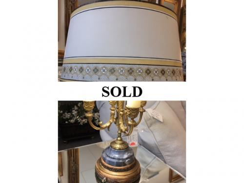 """BRONZE BOUILLOTTE LAMP  14""""D X 21""""H  $250"""
