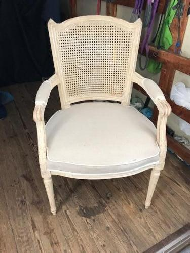 """FRENCH STYLE/CANE BACK CHAIR 23""""W X 20""""D X 39""""H $295"""