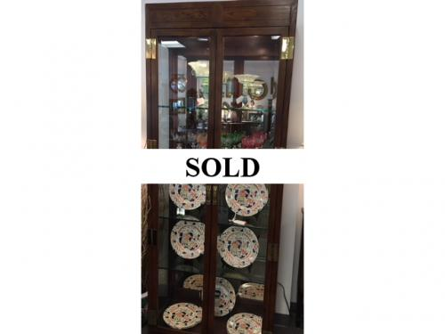 "HENREDON DISPLAY CABINET 81""H X 32""W X 15""D $495 EACH PAIR AVAILABLE"