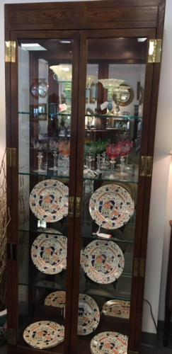 """HENREDON DISPLAY CABINET 81""""H X 32""""W X 15""""D $495 EACH PAIR AVAILABLE"""