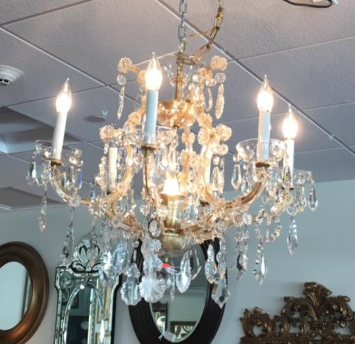 SMALL FRENCH CRYSTAL CHANDELIER $395