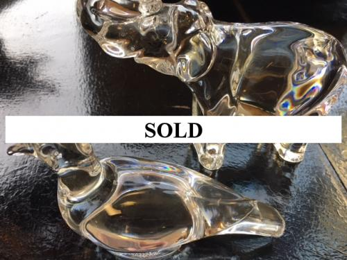 COLLECTIBLE BACCARAT DUCK-$36 & ELEPHANT-$60 FIGURINES