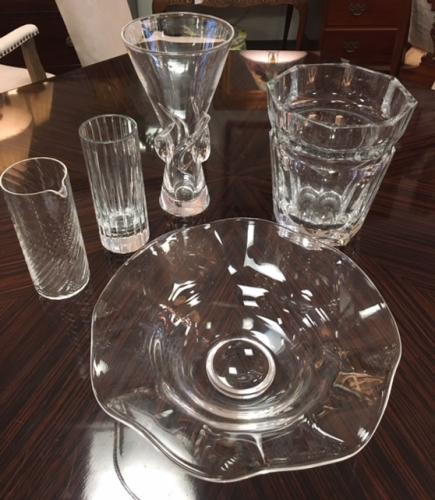 COLLECTION OF STEUBEN & BACCARAT GLASS $45 - $295