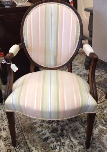 "FRENCH STYLE ARM CHAIR 23""W X 20""D X 35""H $250"