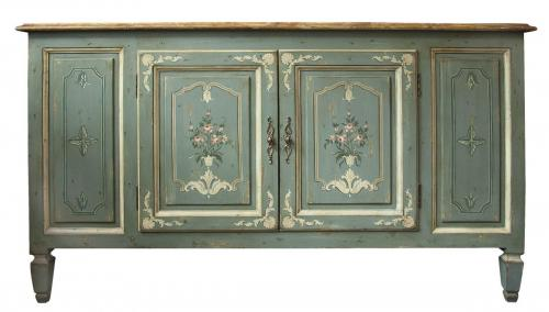 CHELSEA HOUSE PAINTED CREDENZA 64.0ʺW × 21.5ʺD × 36.0ʺH CONSIGNED AT $895 REDUCED TO SELL $715