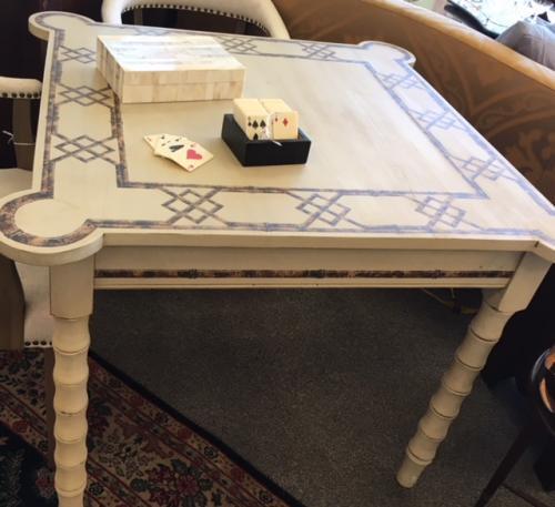 "WHITEWASH GAME TABLE 40""W X 40""D X 30""H $795"