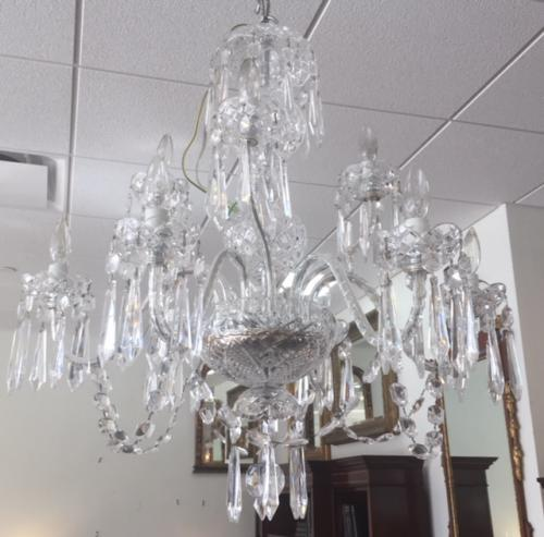 "SIGNED WATERFORD 9-LIGHT CHANDELIER 27""DIAMETER X 31""H $1995"