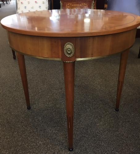 "FRENCH STYLE WALNUT 29"" ROUND TABLE 26.5""H $250"