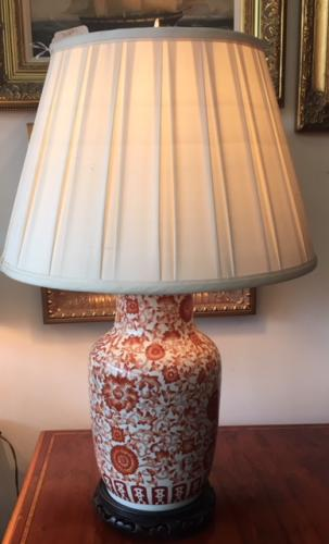 "ASIAN GINGER JAR LAMP 18""W X 28""H $195"