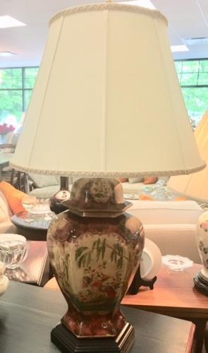 """GINGER JAR LAMP 18""""DIAMETER X 31""""H $150"""