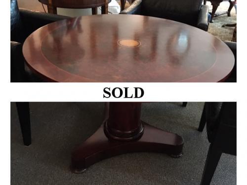 """42"""" MAHOGANY ROUND TABLE"""