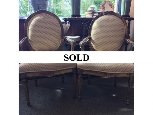 PAIR OF LOUIS XV CHAIRS