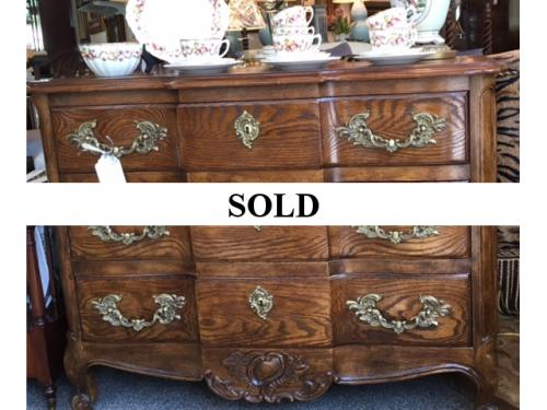 FRENCH STYLE OAK 3 DRAWER CHEST REG. $550 PRICED TO SELL $395