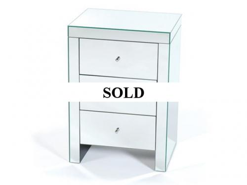 MIRRORED BEDSIDE CHEST PAIR AVAILABLE - $495 EACH