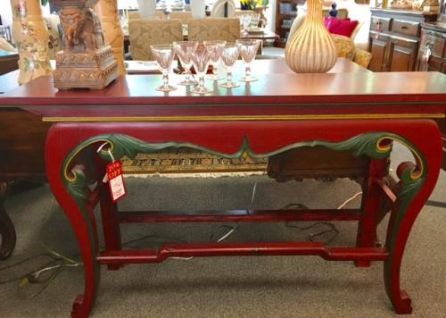 """60"""" RED ORIENTAL STYLE CONSOLE-$796"""