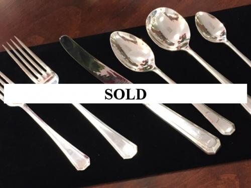 SERVICE FOR 8-SHEFFIELD PLATE-$195