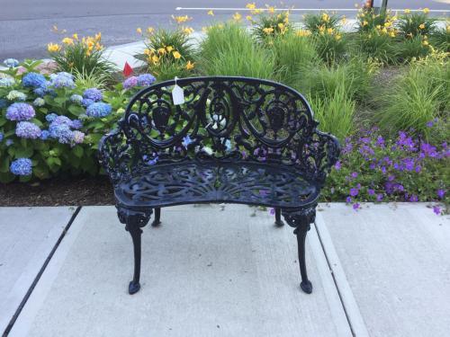 VINTAGE BLACK GARDEN BENCH-$495