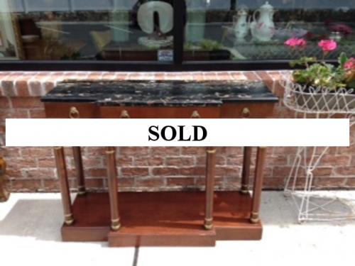 "42"" MARBLE TOP CONSOLE $495"