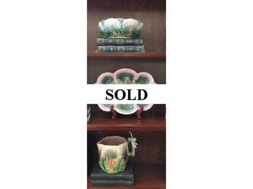 COLLECTION OF ENGLISH MAJOLICA $45 - $75 EACH