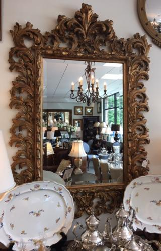 LARGE GILT CARVED MIRROR $795