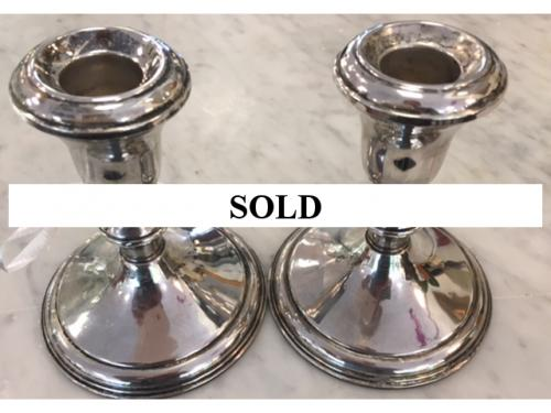 PAIR OF STERLING CANDLESTICKS-$39