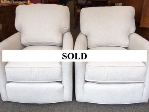 NEW LEE INDUSTRIES CUSTOM UPHOLSTERED SWIVEL CHAIRS $1595 EACH