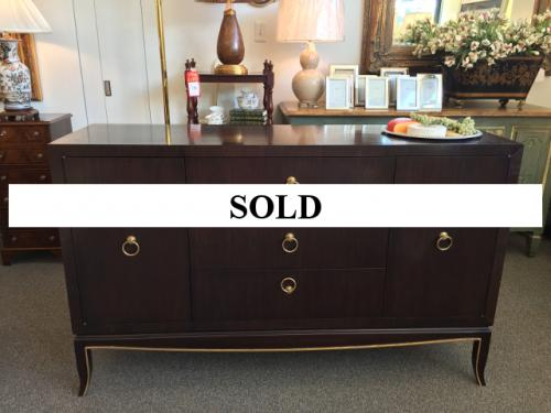 EBONY CABINET WITH SILK-LINED DRAWERS $1295