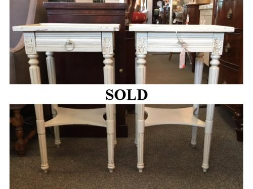 PAIR OF SWEDISH STYLE SIDE TABLES  $195
