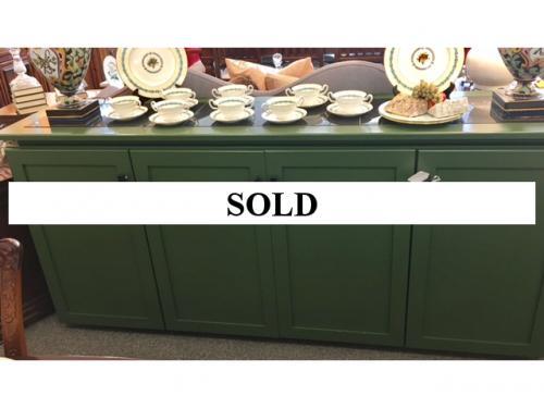 CUSTOM DESIGNED 4-DOOR CABINET WITH GRANITE TOP $695