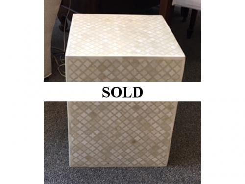 MOTHER OF PEARL SIDE TABLE $180