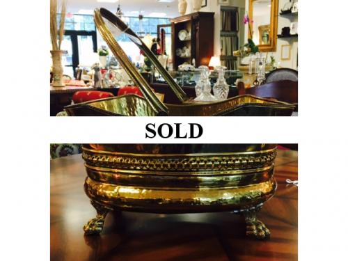 FOOTED BRASS BUCKET $150