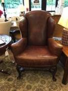LEATHER WING CHAIR REG:  $4395 SALE: $1356