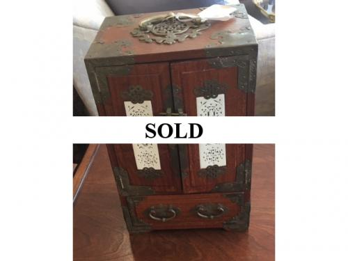 "CHINESE JEWELRY BOX 12.5""H X 8""W X 6""D $99"
