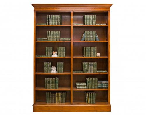 English Yew Double Bookcase 64W x 12D x 64H