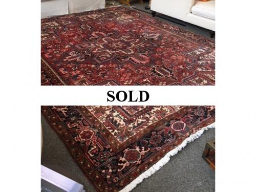 HAND WOVEN RED/BROWN ORIENTAL RUG 12' X 9.5' $895
