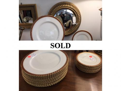 SET OF 12 DINNER PLATES MADE FOR TIFFANY BY LENOX $150