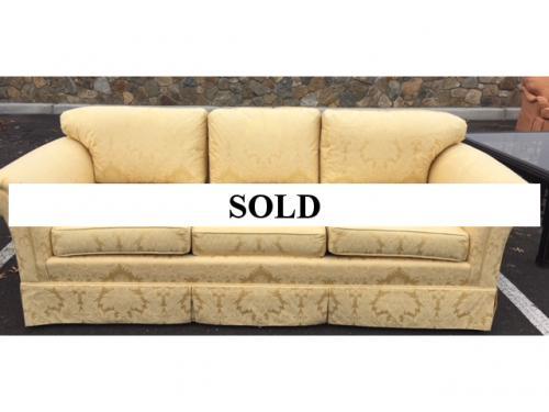 KINDEL GOLD DAMASK SOFA/3-SEATER $1295