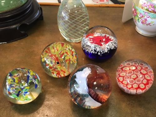 COLLECTION OF DECORATIVE PAPERWEIGHTS $24 EACH