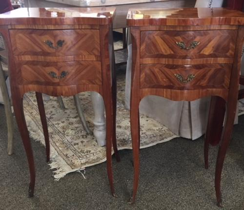"""PR FRENCH STYLE SIDE TABLES 15.25""""W X 12""""D X 29.5""""H $1395"""