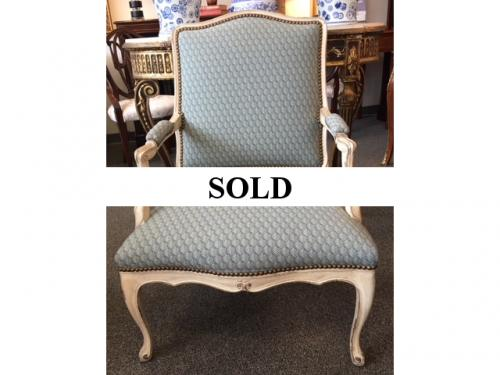 """FRENCH BERGERE CHAIR 26""""W X 20""""D X 36.5""""H $295"""