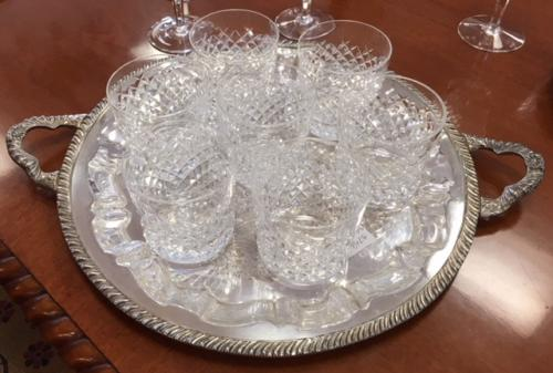 """COLLECTION OF WATERFORD """"ALANA"""" TUMBLERS 12 PIECES $395"""